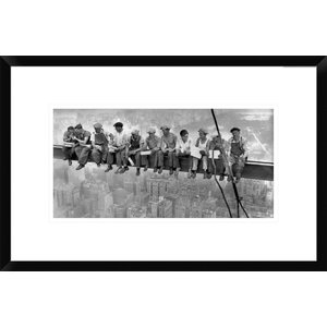 New York Construction Workers Lunching on a Crossbeam, 1932 by Charles C. Ebbets Framed Photographic Print by Global Gallery