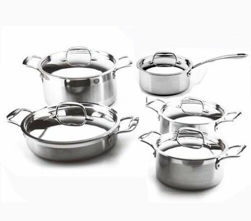 Leisure Man 3-Ply 10 Piece Cookware Set by Concord Cookware