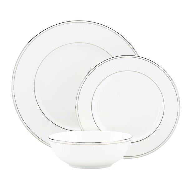 Federal Platinum Bone China 3 Piece Place Setting, Service for 1 by Lenox