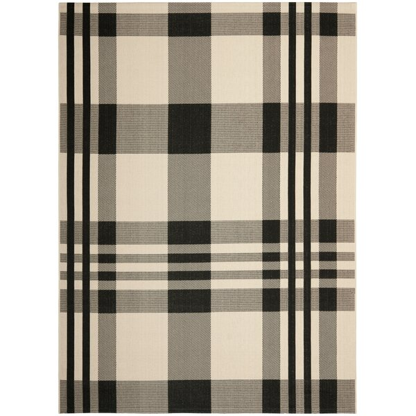 Frazier Black/Bone Indoor/Outdoor Area Rug by Laurel Foundry Modern Farmhouse