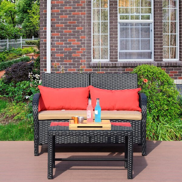 Raylene 6 Piece Rattan Sofa Set by Latitude Run