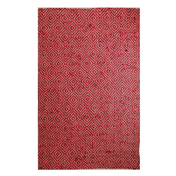 Hand-Woven Red Area Rug by Affinity Linens