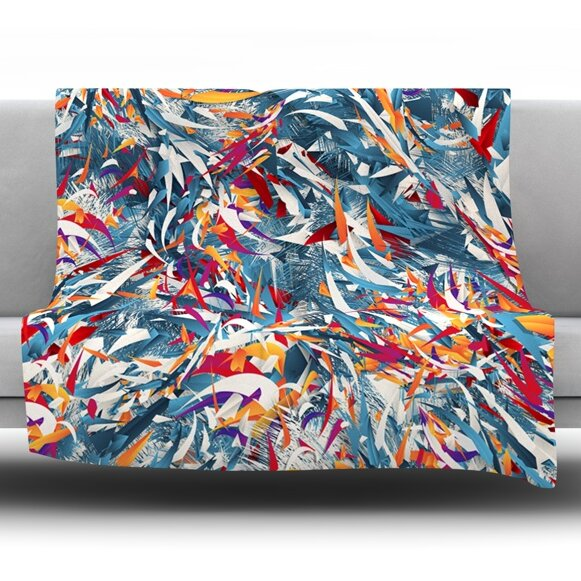 Excited Colours by Danny Ivan Fleece Throw Blanket by East Urban Home