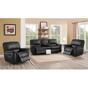 Averill Leather 3 Piece Living Room Set by Darby Home Co
