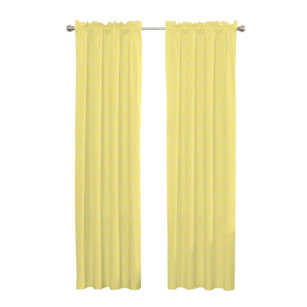 Garris Natural Blackout Rod Pocket Single Curtain Panel by Harriet Bee