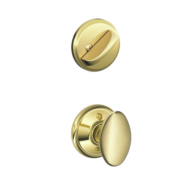 Interior Handleset Siena Knob and Interior Single Cylinder Deadbolt Thumbturn by Schlage