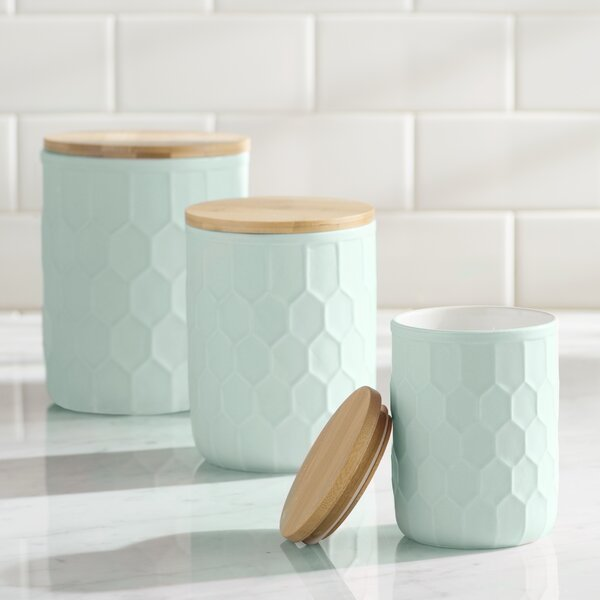 Scandinavian 3 Piece Kitchen Canister Set by Mint Pantry