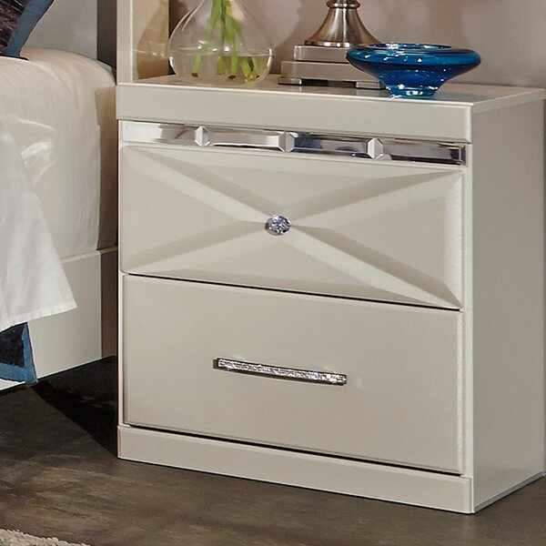 Wylie 2 Drawer Night Stand by Willa Arlo Interiors