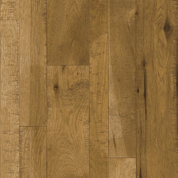 Random Width Solid Hickory Hardwood Flooring in Warmth of Wood by Armstrong Flooring