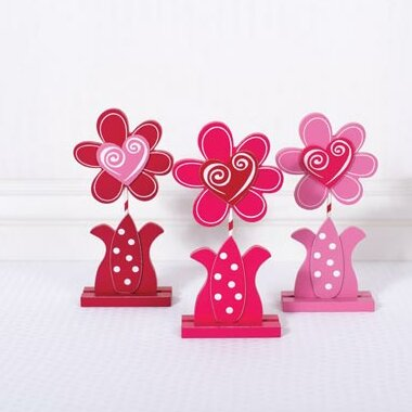 Flower Sculpture (Set of 3) by Adams & Co