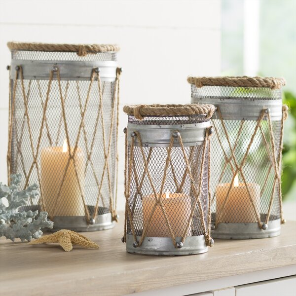 3-Piece Josephine Candle Lantern Set by Rosecliff Heights