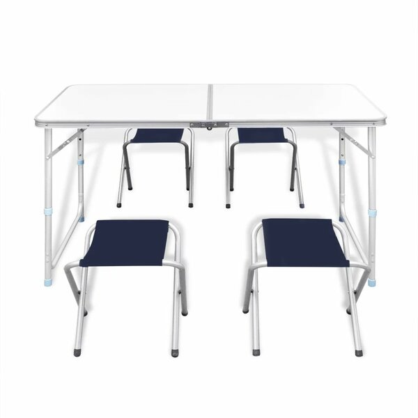 5 Piece Folding Dining Table Set by Ebern Designs