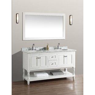 60 Double Bathroom Vanity Set with Mirror ByBirch Lane™