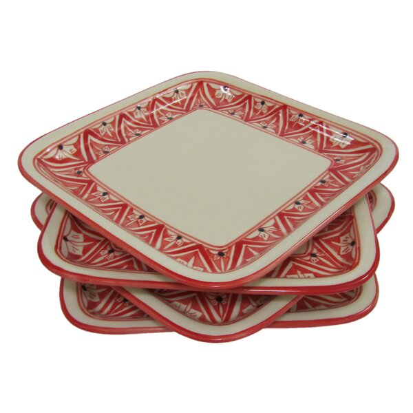 Nejma Square Stoneware 9 Dinner Plate (Set of 4) by Le Souk Ceramique