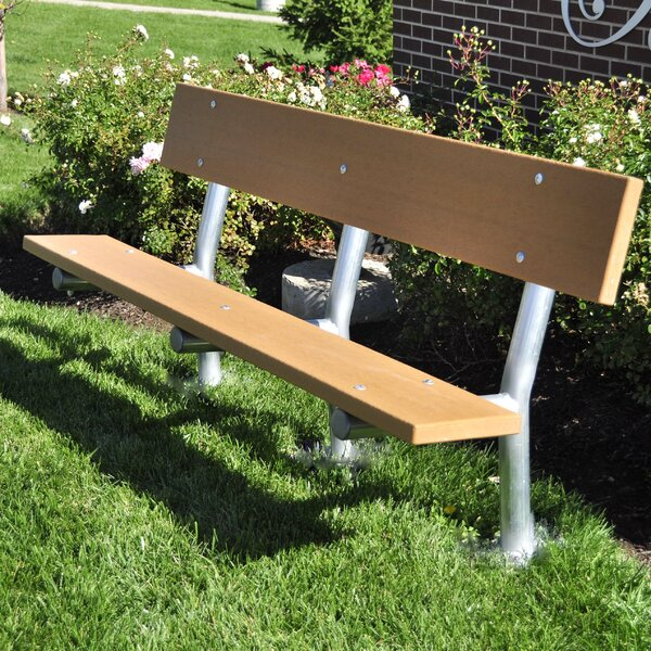 Madison Recycled Plastic Park Bench by Frog Furnishings