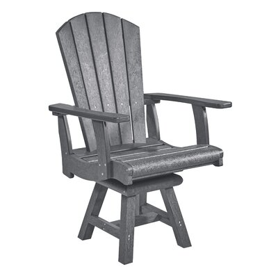 Mullens Patio Dining Chair Beachcrest Home Color: Slate Gray, Swivel: Yes