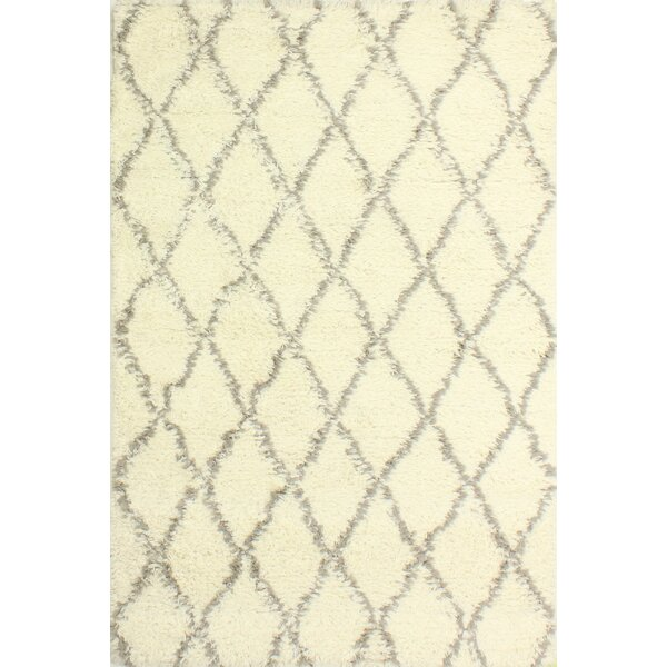 Lavedan Wool Hand-Knotted Ivory/Grey Area Rug by Laurel Foundry Modern Farmhouse