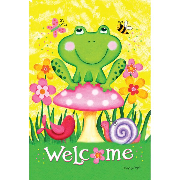 Welcome Froggie and Friends Garden flag by Toland Home Garden