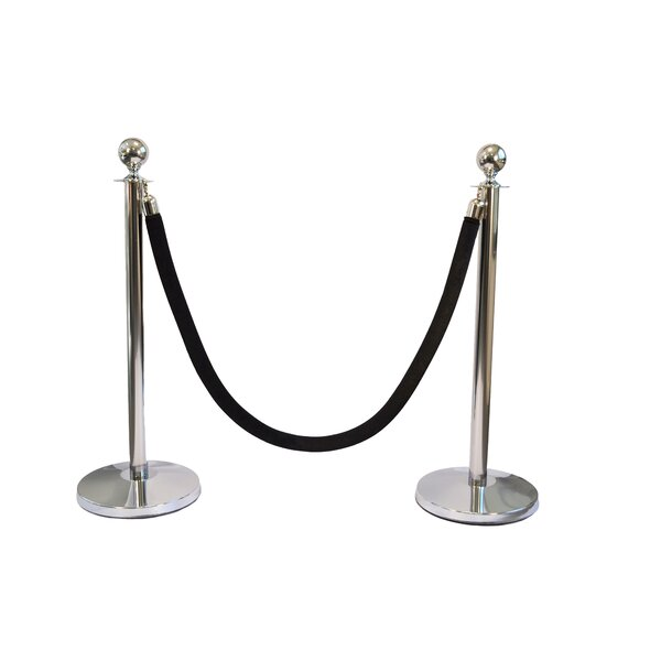 Classic Sphere Stanchions Kit by Queue Way Plus