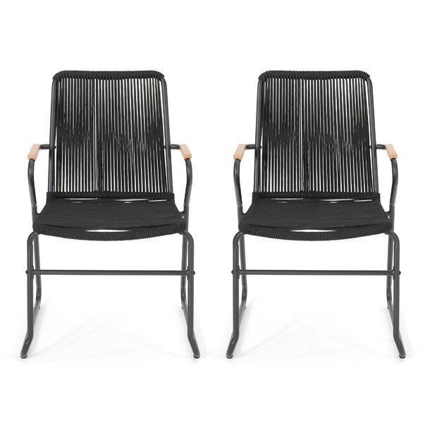 Berkshire Outdoor Rope Weave Club Patio Chair (Set of 2) by Wrought Studio Wrought Studio