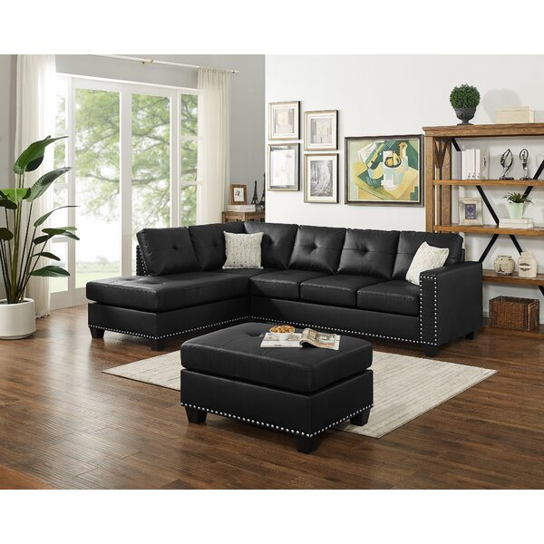Cheap Burdett Modern Reversible Sectional with Ottoman by Winston Porter by Winston Porter