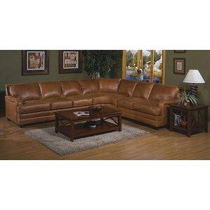 Pantera Leather Sectional  sc 1 st  Wayfair : tan leather sectional sofa - Sectionals, Sofas & Couches