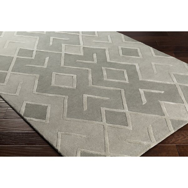 Vazquez Modern Hand-Tufted Gray Area Rug by Wrought Studio
