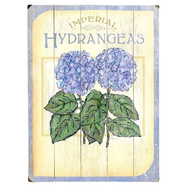 Hydrangeas Vintage Advertisement Multi-Piece Image on Wood by Artehouse LLC