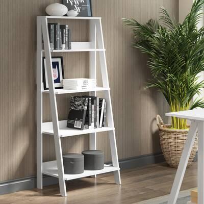 under window bookcase design imogen ladder bookcase zipcode design ricardo reviews wayfair