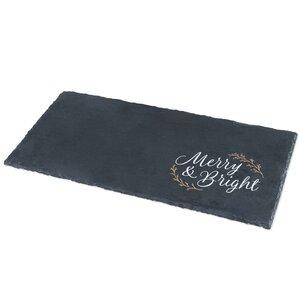 merry and bright slate cheese board u0026 platter