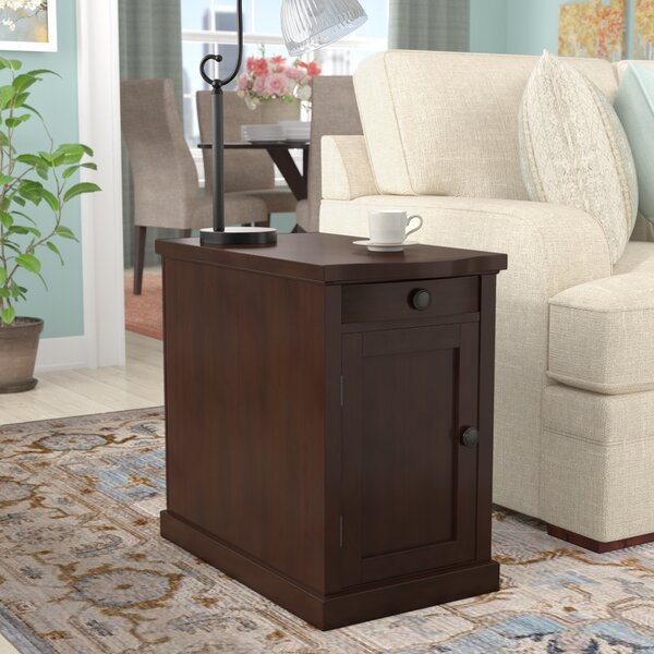 Ferranti End Table With Storage  by Three Posts