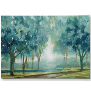 Premium 'Ombre Afternoon' by Nan Painting Print on Wrapped Canvas by Wexford Home