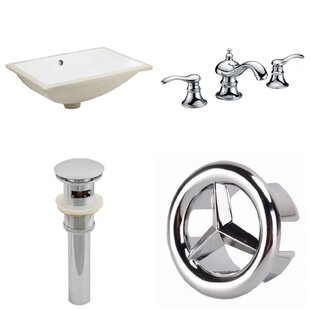 Affordable Price CUPC Ceramic Rectangular Undermount Bathroom Sink with Faucet and Overflow ByAmerican Imaginations