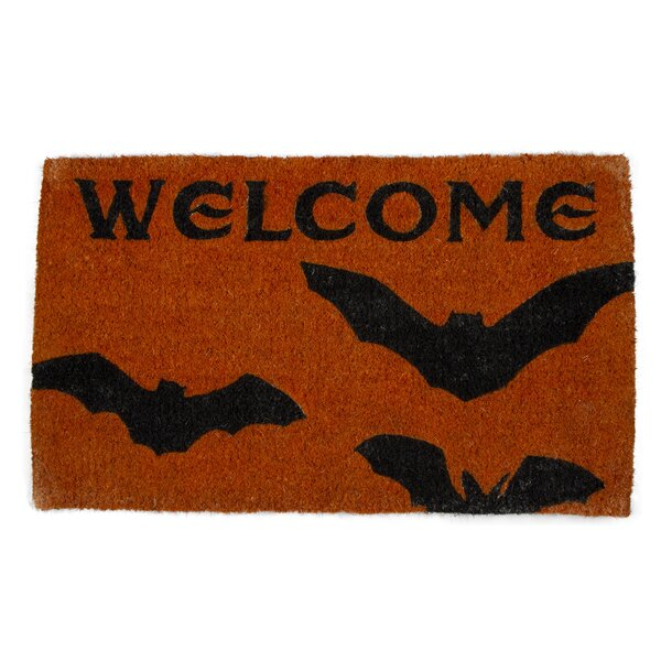 Batty Welcome Coir Doormat by TAG