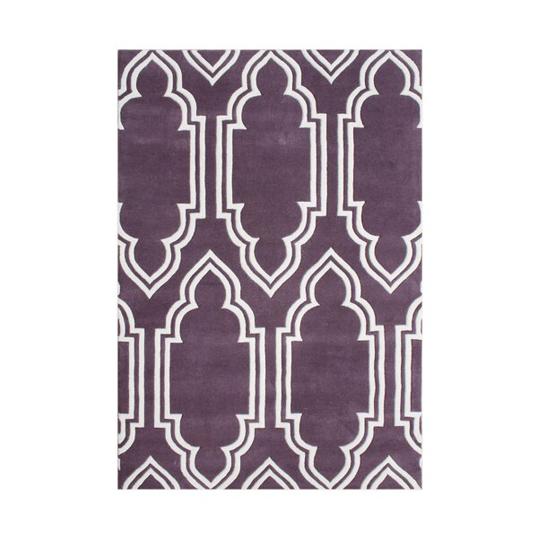 Elk Hand-Tufted Purple Area Rug by The Conestoga Trading Co.