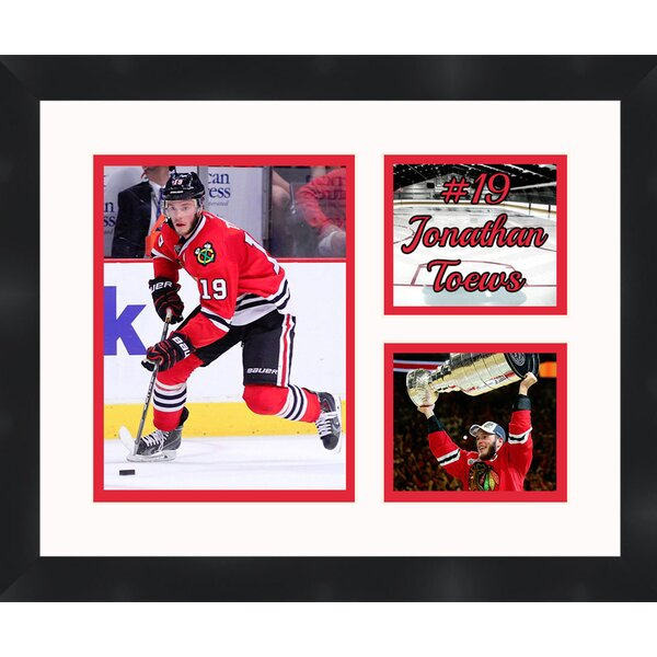 Chicago Blackhawks Jonathan Toews 19  Photo Collage Framed Photographic Print by Frames By Mail