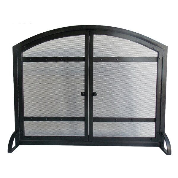 Harper Single Panel Iron Fireplace Screen By Pleasant Hearth.