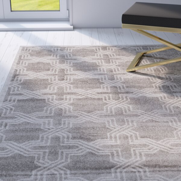 McArthur Grey/Ivory Indoor/Outdoor Area Rug by Beachcrest Home