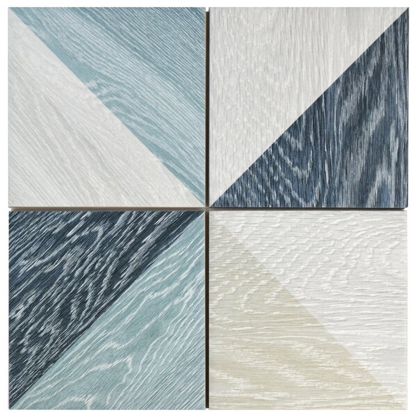 Bon Melange 6.5 x 6.5 Porcelain Field Tile in Blue by EliteTile