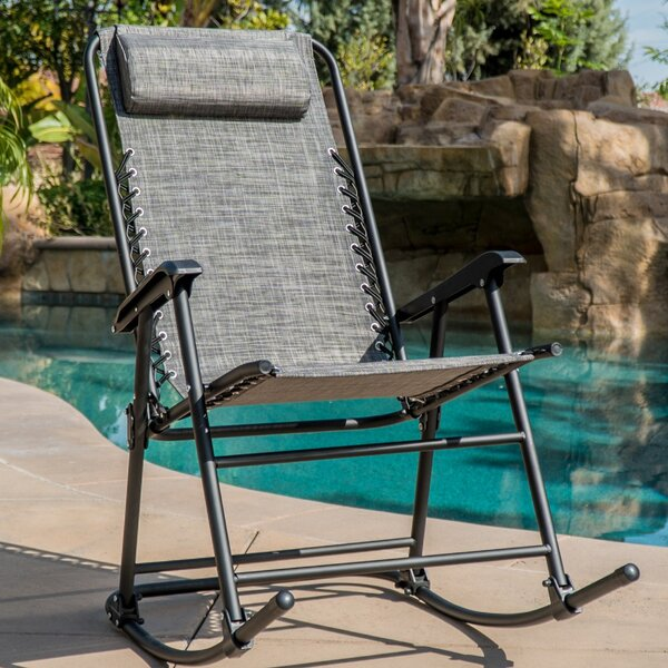 Gillum Zero Gravity Folding Rocking Chair by Wrought Studio