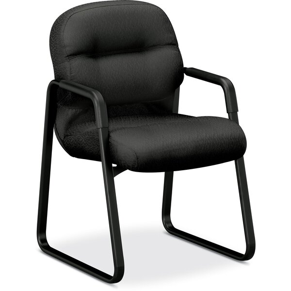 Sled Base Leather Guest Chair by HON