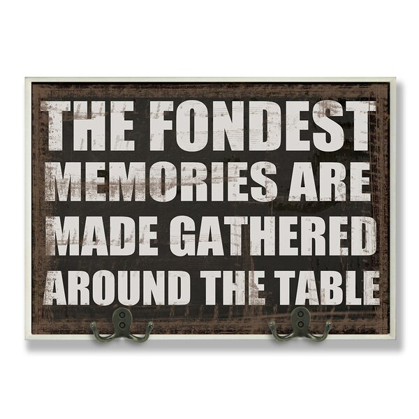 The Fondest Memories Kitchen Textual Art Wall Plaque by Stupell Industries