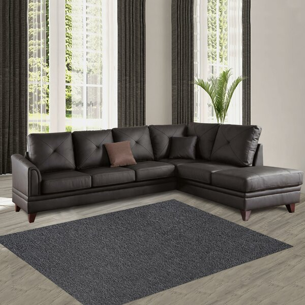 Pensford Leather Sectional by Brayden Studio
