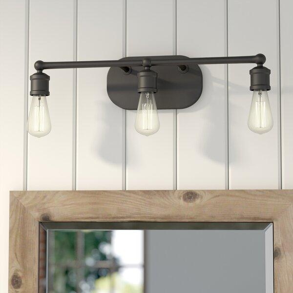 Laurel foundry modern farmhouse agave 3 light vanity light - Farmhouse bathroom vanity lights ...