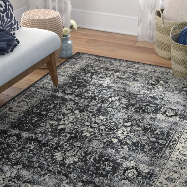 Neuilly Black Area Rug by Mistana
