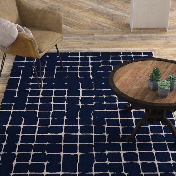 Byers Navy/Gray Area Rug by Williston Forge