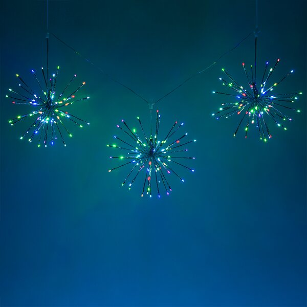 String of 3 LED Starburst Branches Lighting by The Holiday Aisle
