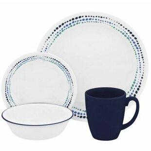 Livingware 16 Piece Dinnerware Set Service for 4  sc 1 st  Wayfair & Polka Dot Dinnerware | Wayfair