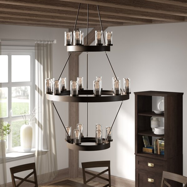 Gallion 24-Light Candle-Style Chandelier by Laurel Foundry Modern Farmhouse