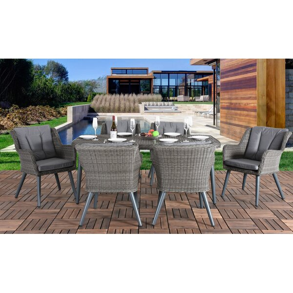 Leatrice 7 Piece Dining Set with Cushions